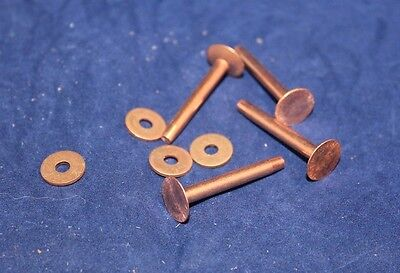 "Rivets and Burrs - #9 - 1"" - Copper - Quantity of 12 (F193)"