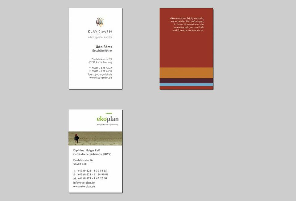 250 Visitenkarten Doppelseitig 4c Webdesign Raumgestaltung