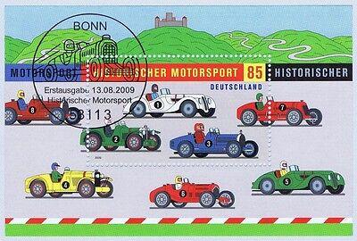 BRD 2009: Motorsport! Block Nr. 75 mit Bonner Ersttags-Sonderstempel! 1A! 1703