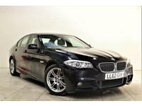 BMW 5 SERIES 2.0 520D M SPORT 4d AUTO 181 BHP + 1 PREV OWNER + SERVICE HISTORY (black) 2012