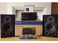 Denon RCD-M40DAB WITH Wharedale 9.1 Speakers AND Esinkin Bluetooth Receiver!
