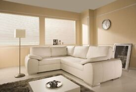 **SOFA SALE PRICES, EMPIRE FURNISHINGS LTD: Enzo sofa beds, available in leather and cord fabric.