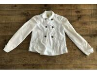 Roxy Quiksilver Woman's White Double Breasted Jacket / Coat - Large