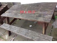 6ft picnic tables
