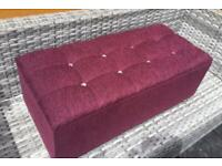 Gorgeous - Ottoman, Lift Up Lid - Buttoned Top - New / Unused