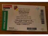 Rolling Stones 1 ticket 25.05.2018. General admission seated Florence and The Machine. Face value