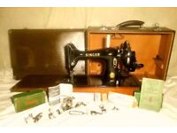 1935 collectable vintage Singer 99K sewing machine.