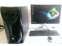 Gaming PC including Monitor, Keyboard and mouse.