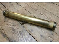 Vintage Antique Solid Brass W. Watkins London Telescope dated 1917 Maritime