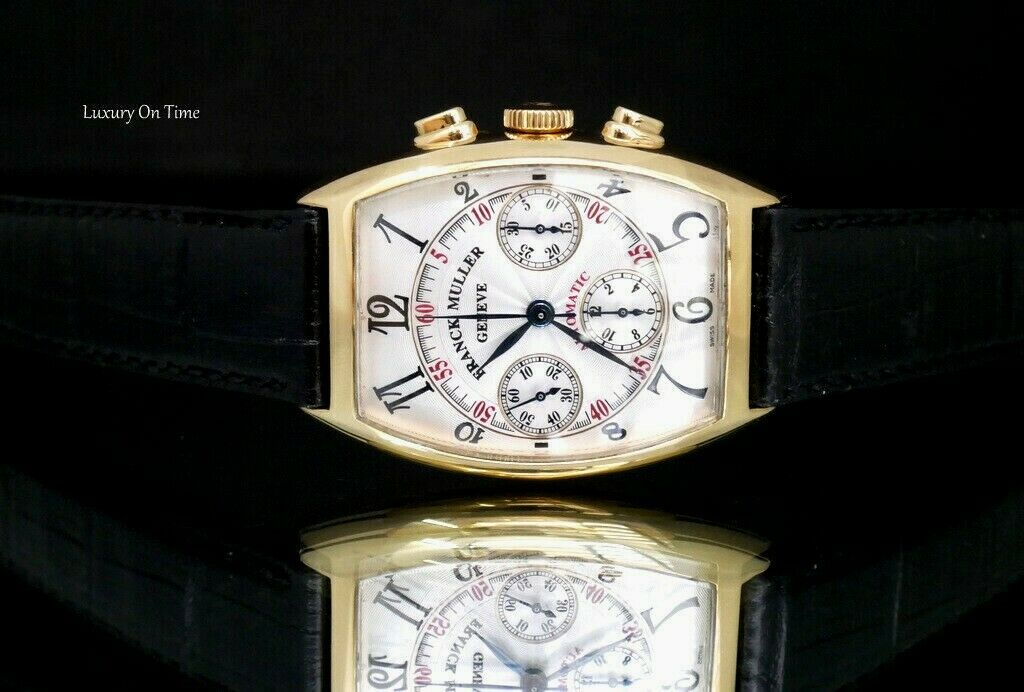 MEN'S FRANCK MULLER MASTER OF COMPLICATIONS 7850CC 18K YELLOW GOLD CHRONOGRAPH . - watch picture 1