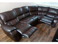 Leather corner settee seats 5