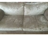Crushed velvet 2 and 3 seater couch