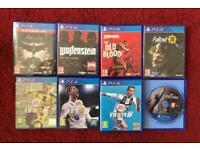 8 PLAYSTATION GAMES (PS4)
