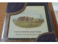 Coasters - Famous British Golf Clubs. New in box