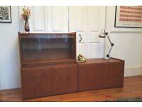 Retro Mid Century Teak Sideboard Record Cabinet