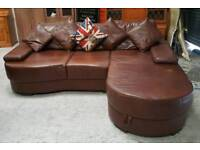 leather corner sofa with storage can deliver 07808222995