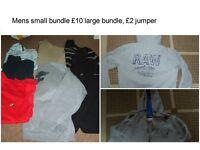 jeans bnwt 28 waist 30 leg £15,bundle size S 4 jumpers, 3 polo shirts £10 jumper size s £2