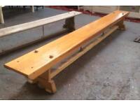 Wood gymnastic benchx2
