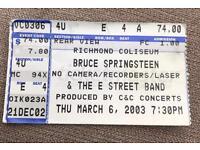 Bruce Springsteen ticket, 2003 - Richmond Coliseum