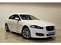 JAGUAR XF 2.2 D R-SPORT 4d AUTO 200 BHP + 1 OWNER FROM NEW (white) 2014