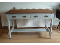 Beautiful restored solid wood hall table / desk / dressing table / sideboard