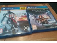 Battlefield 4 PS4 and destiny