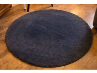 Rug (Dark blue High Pile round)