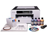 BRAND NEW Ricoh Aficio SG3110DN Sublimation Ink Printer Bundle with Refillable Cartridges