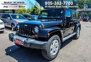 2012 Jeep WRANGLER UNLIMITED SAHARA, HARDTOP, LEATHER, A/C, PWR