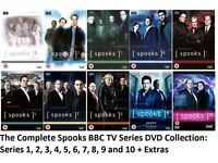 BBC Series Spooks. Seasons 1 to 10 complete. 10 DVDs.