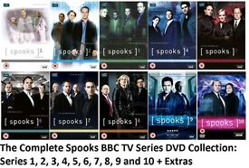 Complete Set of Spooks DVDs: Seasons 1 to 10.