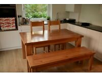 Premium French Oak - Solid Dining Table, bench & chairs