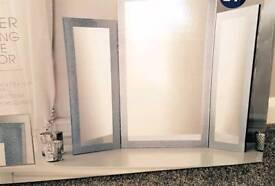 glitter dressing table mirror