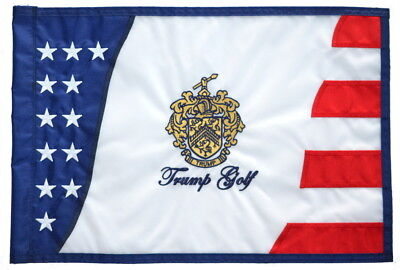 TRUMP GOLF Embroidered STARS and STRIPES GOLF Pin FLAG