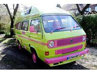 1988 (Dec) VW Transporter T25 Komet Hi Top Campervan 107,500 Miles 1900cc Petrol Watercooled Manual