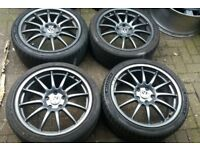 "18"" TEAM DYNAMICS PRO RACE 1.2 ALLOY WHEELS 5 X 112 VW VAG GOLF AUDI SEAT MERC"