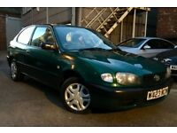 *** BARGAIN *** 2000 TOYOTA COROLLA 1.4L, MANUAL, LONG MOT, SERVICE HISTORY, NEW TYRES, READY TO GO