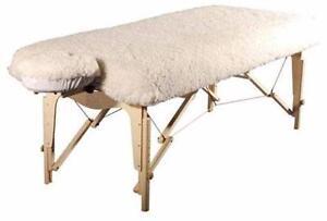 Ensemble Piqué de mouton pour table de massage NEUF