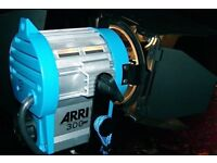 Arri Lighting kit /650/300/150/9 bulbs/3 stands and flight case