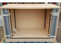 NEW Lockable Tambour Cupboard Storage Unit Office H72cm x W100cm x D51cm