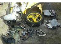 PEUGEOT SPEEDFIGHTER 50cc PARTS BRAKES SEAT RADIATOR WHEELS ETC £60 THE LOT