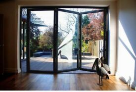 New, Quality Aluminuim Bi fold Patio Doors inc Glass 3 panelS. £1490.00 2100MM X 3000MM