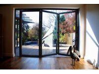New, Quality Aluminuim Bi fold Patio Doors inc Glass 3 panelS. £1390.00 2100MM X 3000MM