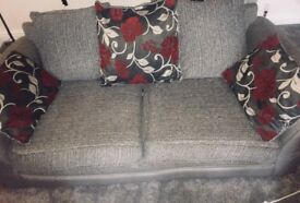2 grey 3 seater sofas will be washed and cleaned brill condition 180 Ono