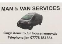 Man & van services. Swinton based.