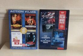 SIX ACTION FILMS ON TWO DVD'S