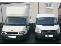 MAN AND VAN REMOVALS GLASGOW LUTON VAN FROM SINGLE ITEMS TO FULL HOUSE AND OFFICES MOVES