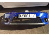 Ford Fiesta st mk5 performance blue complete front bumper collection only