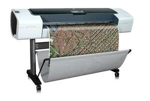 "HP DesignJet T1120 HD Large Format inkjet Color Printer 44"" wide format Plotter Cutter - BUY or RENT"