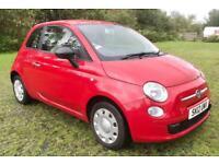 2012 FIAT 500 POP(S/S)1.2 PETROL 12 MONTHS MOT £30 ROAD TAX LOW MILEAGE WARRANTY+DELIVERY